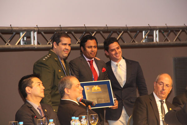 The medal was awarded at the official ceremony of the Brazilian Academy on June 3rd, 2015, Atibaia, Brazil. At the side of Prof. Abdulrauf (Dandy President), are two of Brazil's upcoming exceptional neurosurgeons, Dr. Paulo Porto de Melo (right), Dr. Breno Nery (left), both have been mentored by the Dandy President.