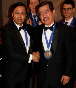 Dandy Society President Saleem I. Abdulrauf presented Professor Takeshi Kawase with the Dandy 2013 Medal on the evening of Friday, June 28th, 2013 in Milan, Italy for his monumental contributions to Operative Neurosurgery.