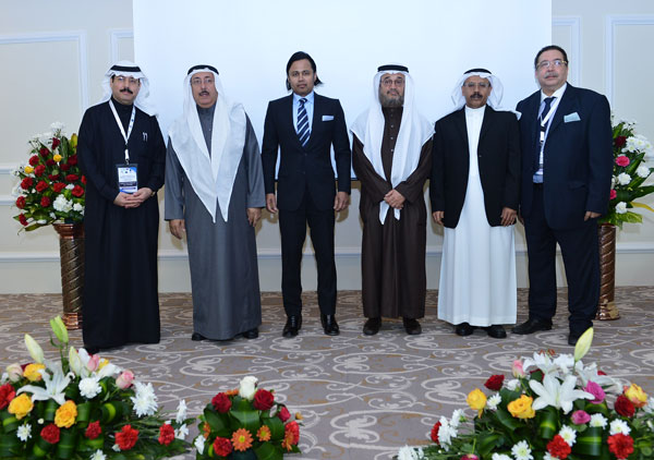 Meeting leadership: (L-R) Prof. Abdulrahman Al Anazi, Chairman, Department of Neurosurgery, University of Dammam & Chair of the Saudi Dandy Chapter; Prof. Abdullah Al Rubaish, President, University of Dammam; Prof. Saleem Abdulrauf, President, Walter E. Dandy Neurosurgical Society; Prof. Basil Sheikh, Vice-President for the Academic Affairs, University of Dammam; Prof. Ali Sultan, Dean, College of Medicine, University of Dammam, and Prof. Ahmed Ammar, Professor of Neurosurgery, University of Dammam