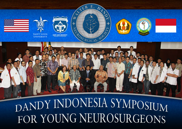 Dandy sponsored a 2-day Neurosurgery Training Symposium that was attended by young neurosurgeons and residents. The Dandy President, Saleem Abdulrauf, is pictured seated between Professors Beny Atmadja Wirjomartani and Kahdar Wiriadisastra, MD, PhD, two of the pioneers of neurosurgery in Indonesia. Also pictured in the front row is Prof. Suzy Indharty, MD, PhD, Indonesia's first female Department of Neurosurgery Chair.