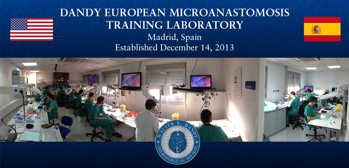 Dandy sponsored residents from 5 countries to attend its inaugural European Microanastomosis Training Symposium.